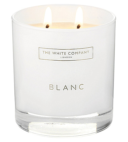 the white company blanc double wick scented candle