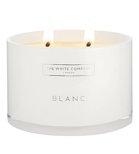 THE WHITE COMPANY Blanc 3-wick candle (No+colour