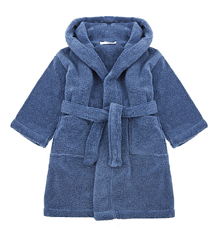 THE LITTLE WHITE COMPANY Hydrocotton dressing gown 1-6 years (Moonlight+blue