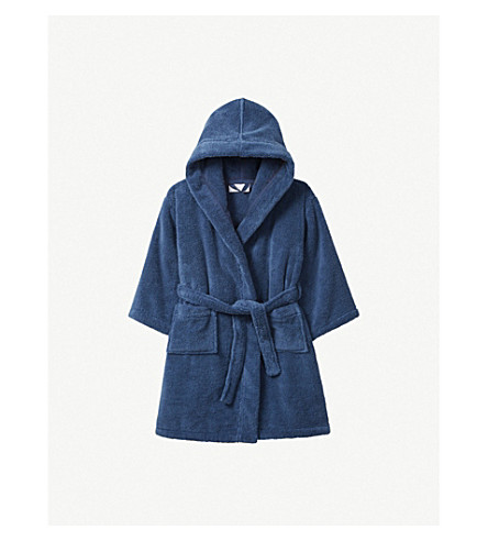 THE LITTLE WHITE COMPANY Hydrocotton dressing gown 5-12 years (Moonlight+blue