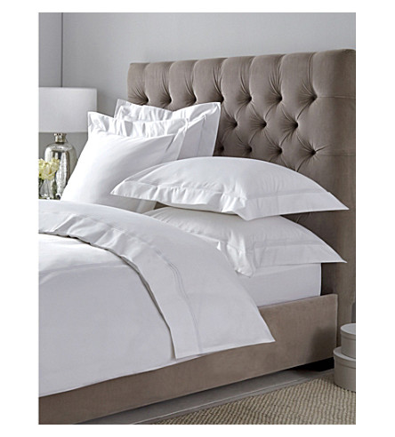 THE WHITE COMPANY Belgravia Egyptian cotton super king duvet cover (White