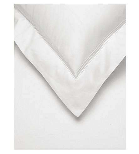 THE WHITE COMPANY Belgravia Egyptian cotton square pillow case (White