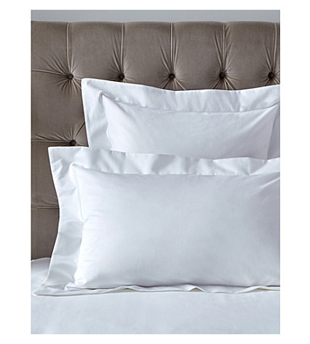 THE WHITE COMPANY Belgravia Egyptian cotton super king Oxford pillow case (White