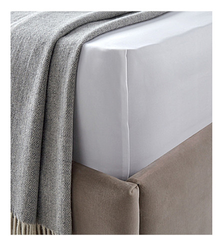 THE WHITE COMPANY Belgravia Egyptian cotton double flat sheet (White