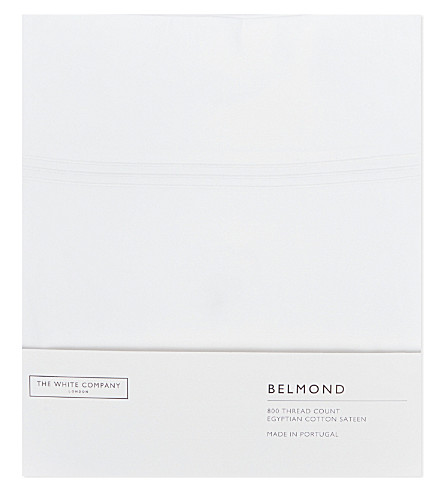 THE WHITE COMPANY Belgravia Egyptian cotton super king flat sheet (White
