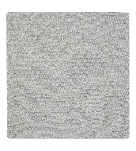 THE WHITE COMPANY Bourne lambswool medium square cushion cover (Silver+grey