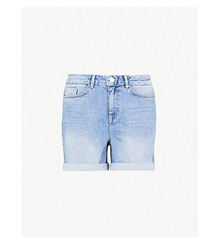 THE WHITE COMPANY Brompton stretch-denim shorts (Pale+wash