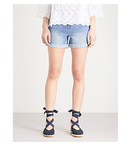 THE WHITE COMPANY Brompton stretch-denim shorts (Pale+wash