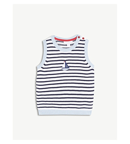 THE LITTLE WHITE COMPANY Boat knitted cotton tank top 0-24 months (Multi