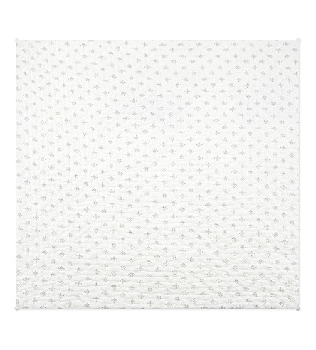THE WHITE COMPANY Brittany medium square cotton voile cushion cover (White/grey
