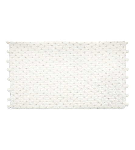 THE WHITE COMPANY Brittany small rectangle cushion cover (White/grey