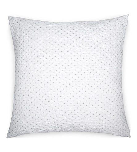 THE WHITE COMPANY Brittany large square cotton voile cushion cover (White/blue