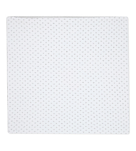 THE WHITE COMPANY Brittany large square cotton voile cushion cover (White/grey