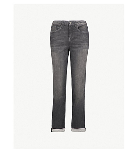 THE WHITE COMPANY Brompton boyfriend-fit mid-rise jeans (Dark+grey