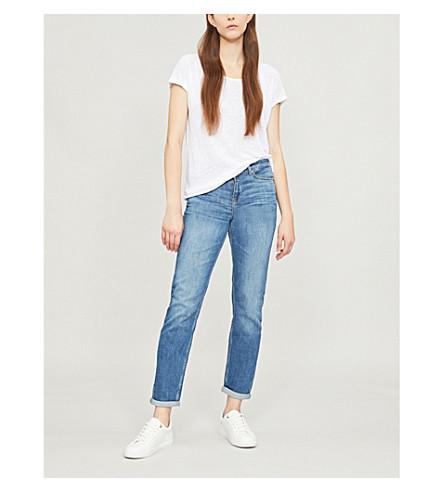 THE WHITE COMPANY Brompton boyfriend-fit mid-rise jeans (Pale wash