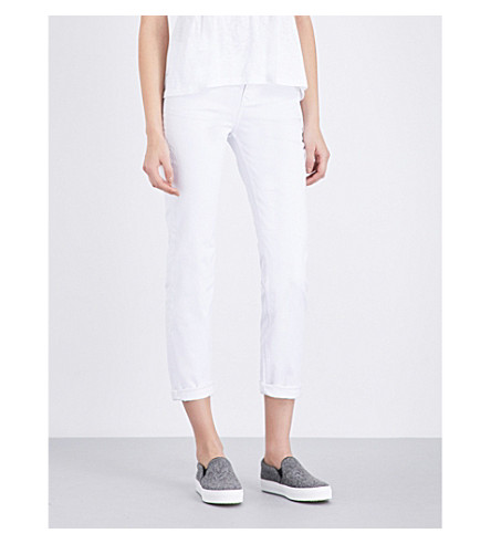 THE WHITE COMPANY Brompton straight mid-rise jeans (White