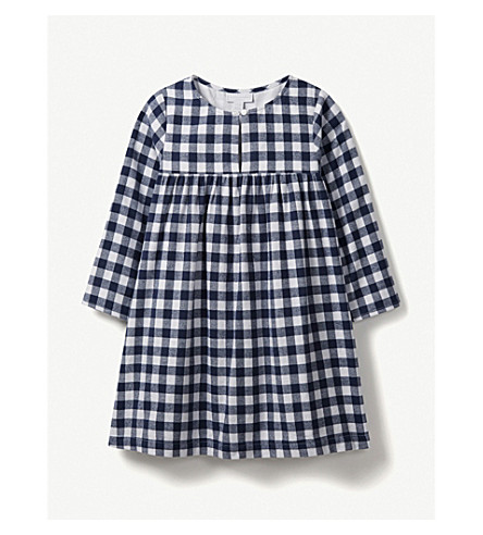 THE LITTLE WHITE COMPANY Cotton gingham dress 1-6 years (Multi