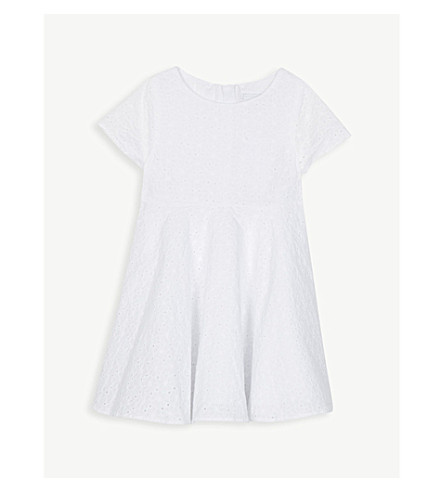 THE LITTLE WHITE COMPANY Broderie anglaise cotton dress 1-6 years (White
