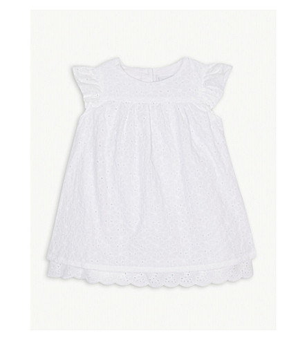 THE LITTLE WHITE COMPANY Broderie anglaise cotton dress and knickers 0-24 months (White