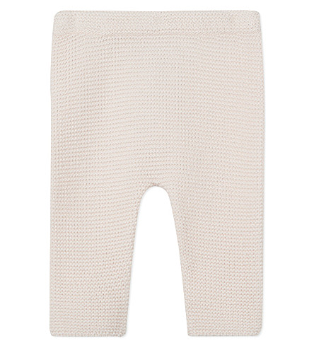 THE LITTLE WHITE COMPANY Knitted cotton leggings 0-24 months (Pink