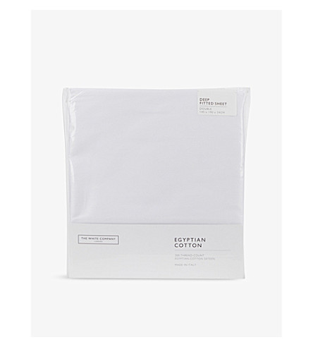 THE WHITE COMPANY Egyptian cotton sateen deep fitted double sheet (White