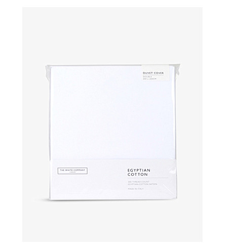 THE WHITE COMPANY Egyptian cotton sateen double duvet cover (White