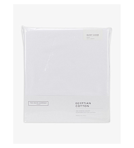 THE WHITE COMPANY Sateen Egyptian cotton king duvet cover (White