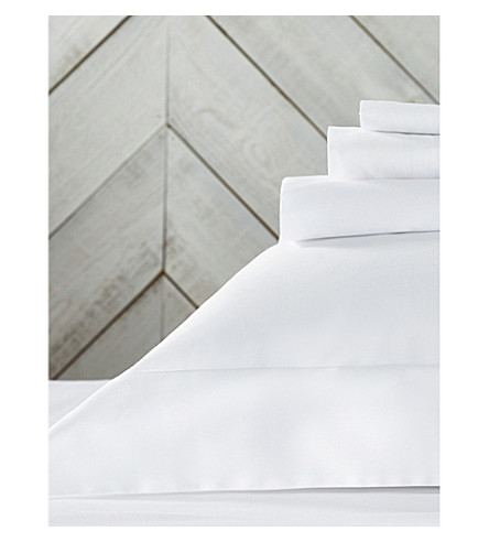 THE WHITE COMPANY 缎纹埃及棉羽绒被盖 (白色