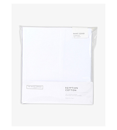 THE WHITE COMPANY Sateen Egyptian cotton superking duvet cover (White