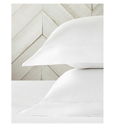 THE WHITE COMPANY 300 thread-count Egyptian cotton sateen pillowcase (White