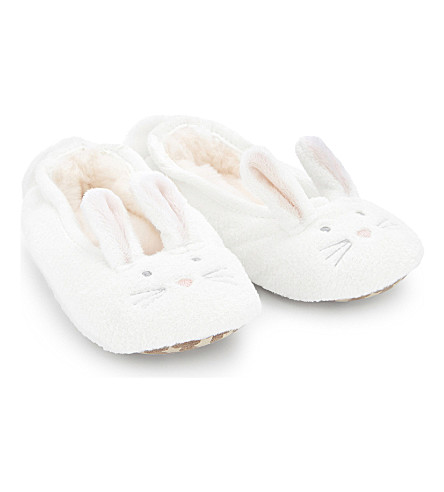 THE LITTLE WHITE COMPANY Bunny slippers 0-7 years (Winter-white