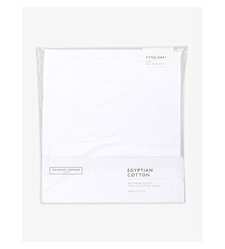 THE WHITE COMPANY Cotton sateen fitted sheet (White