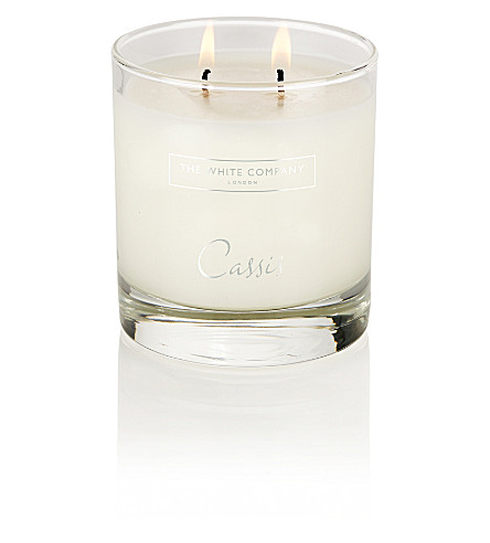 THE WHITE COMPANY Cassis Luxury candle with lid 280g (No+colour