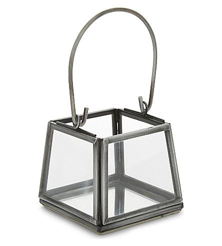 THE WHITE COMPANY Skye mini lantern 6cm (Grey