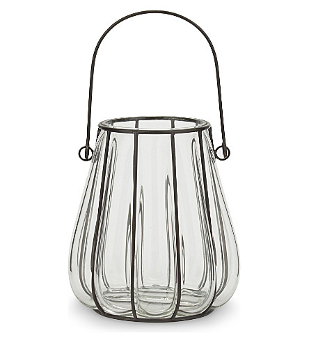 THE WHITE COMPANY Captured glass hurricane lantern (Clear