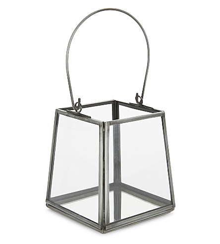 THE WHITE COMPANY Skye medium lantern 12cm (Grey