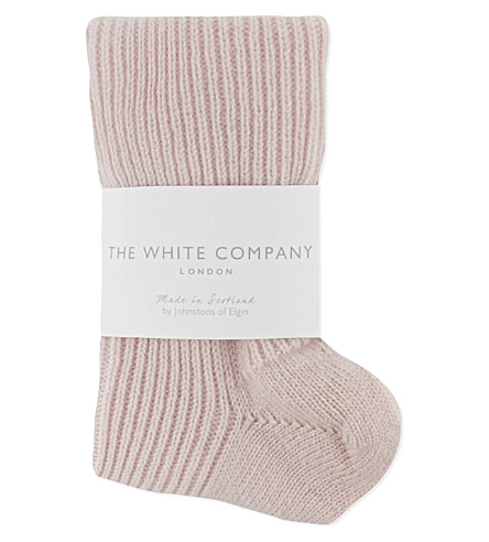 THE WHITE COMPANY Cashmere bedsocks (Baby+pink