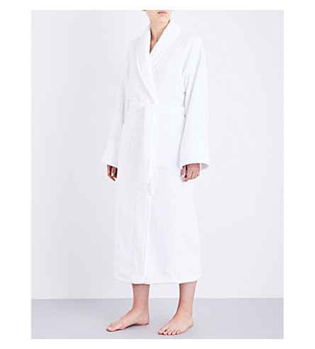 THE WHITE COMPANY Classic cotton robe (White