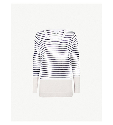 THE WHITE COMPANY Striped linen jumper (Multi