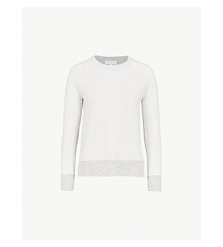THE WHITE COMPANY Colour block wool and cashmere-blend jumper (Multi