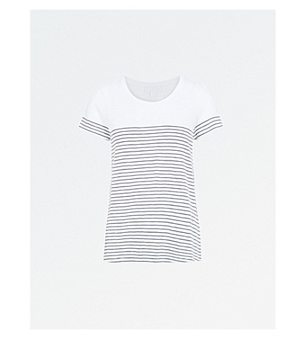 THE WHITE COMPANY Striped cotton top (White/eclipse
