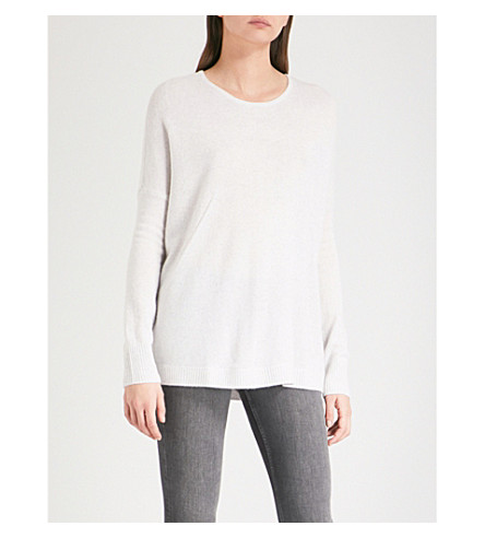 THE WHITE COMPANY Relaxed-fit cashmere jumper (Cloud+marl