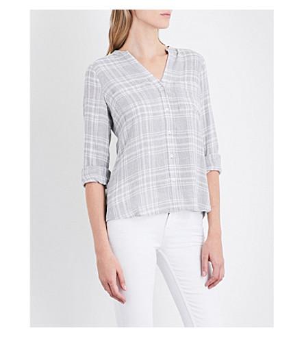 THE WHITE COMPANY 休闲格子衬衫 (灰色