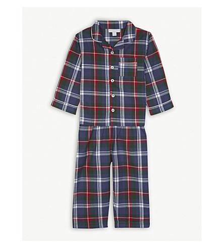 THE LITTLE WHITE COMPANY Christmas check cotton pyjamas 1-6 years (Multi