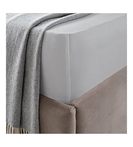 THE WHITE COMPANY Cadogan egyptian cotton king flat sheet (White