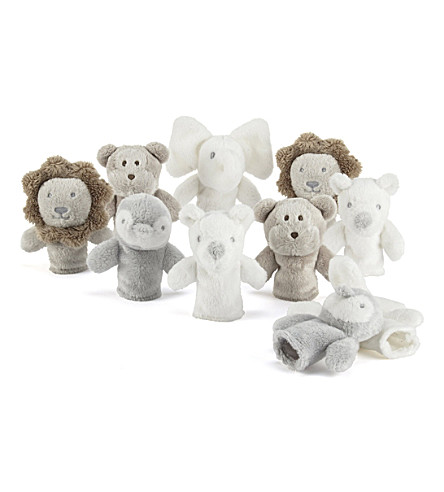 THE LITTLE WHITE COMPANY Animal finger puppets (Multi