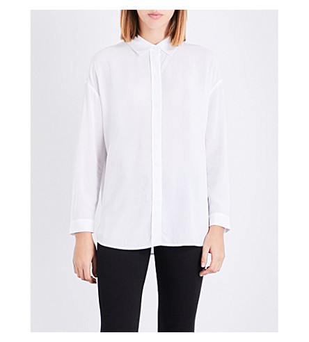 THE WHITE COMPANY Loose-fit woven shirt (White