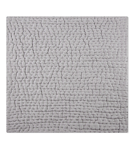 THE WHITE COMPANY Carrington medium square cushion cover (Soft+slate