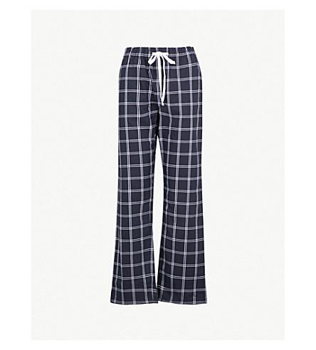 THE WHITE COMPANY Checked cotton pyjama pants (Navy