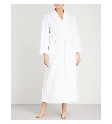 THE WHITE COMPANY Cotton-towelling robe (White